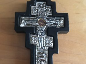 Byzantine Silver Wall Cross (small))