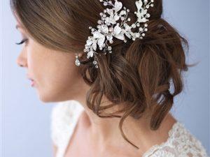 Rhinestone Floral Bridal Clip