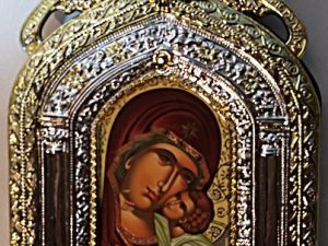 Byzantine Icon of Pangia with Christ