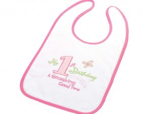 """My First Birthday"" Bib (Girl)"
