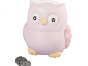 Pink Owl Coin Bank