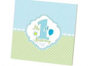 1st Birthday Memory Book (Boy)