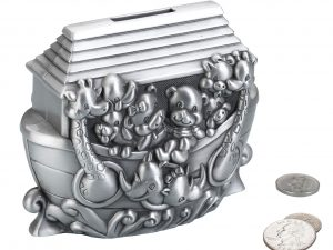 Pewter Noah's Ark Coin Bank