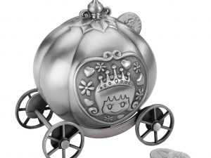 Pewter Fairytale Coach Coin Bank