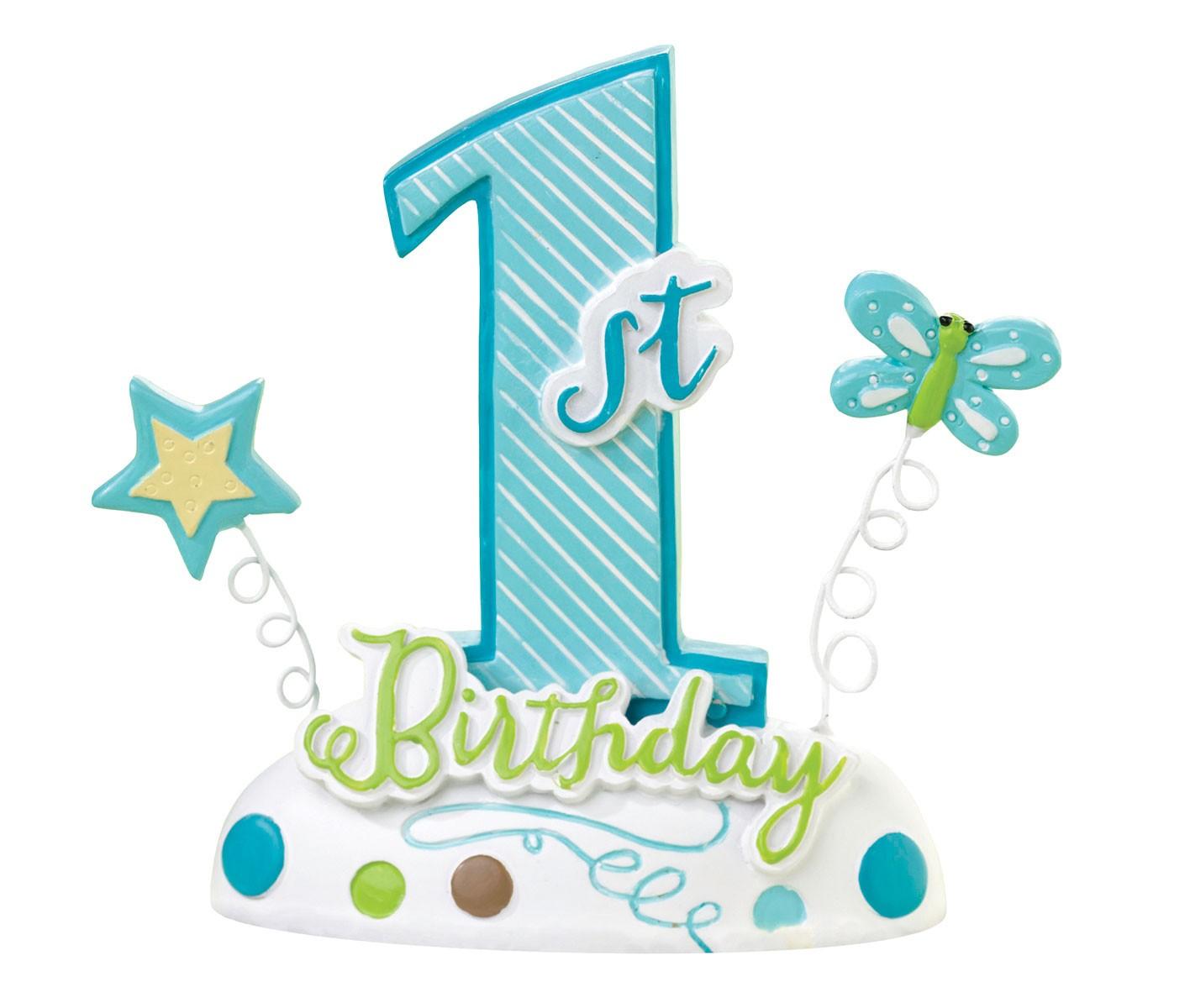 Lillian Rose First Birthday Blue Cake Topper