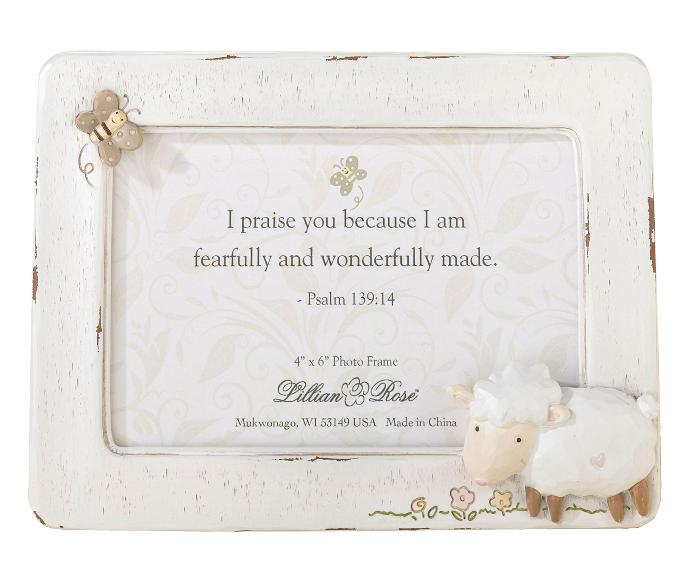 Lillian Rose Baby Picture Frame 4×6 Little Lamb