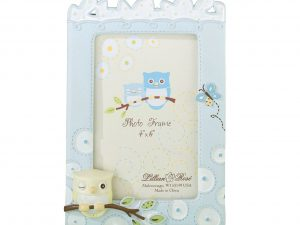 Lillian Rose Baby Picture Frame 4×6 Blue Owl