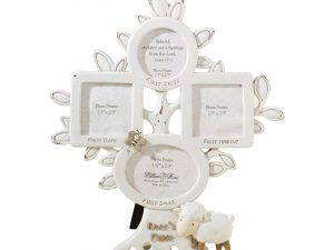 Baby's First Year Photo Frame – White