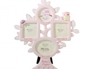 Baby's First Year Photo Frame – Pink