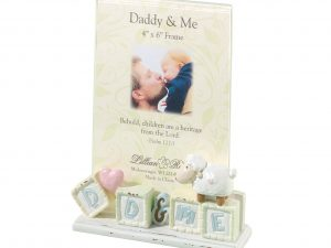 Lillian Rose Daddy & Me Baby Picture Frame Little Lamb