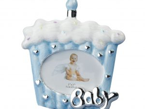 Blue/Silver Cupcake Baby Frame
