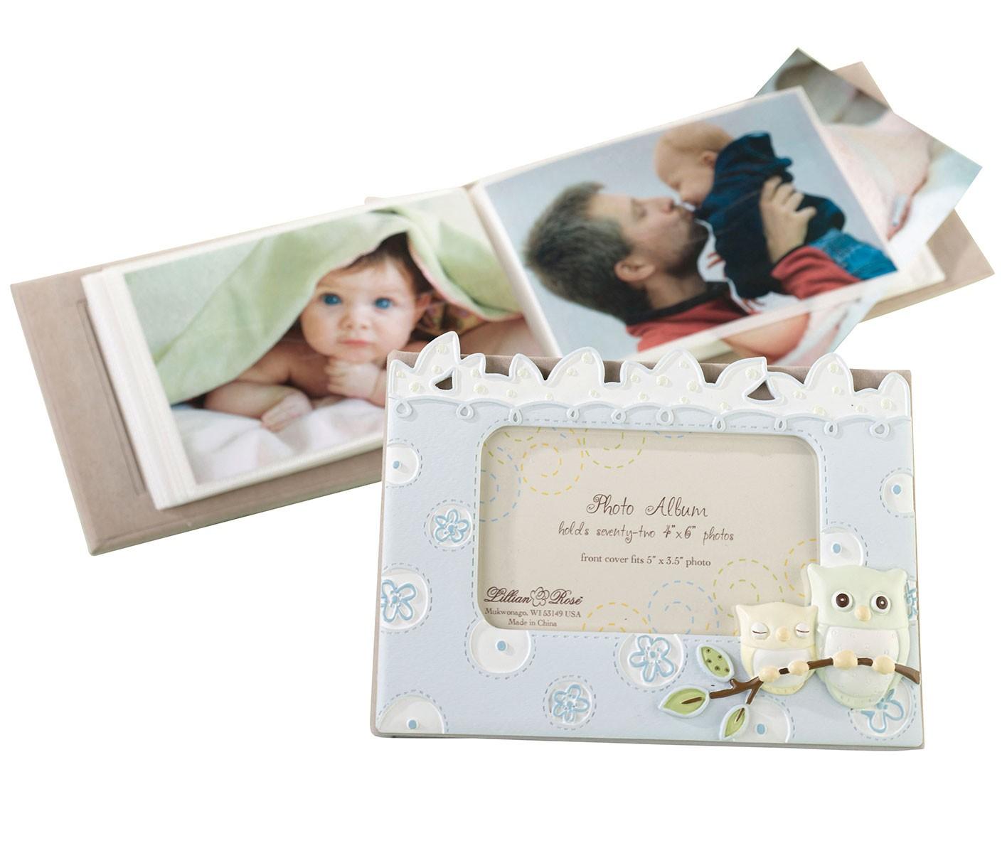 Lillian Rose Blue Owl Baby Photo Album