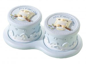 Lillian Rose Blue Owl Baby Tooth & Curl Boxes