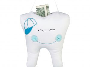 Tooth Fairy Pillow with embroidered Blue Cap