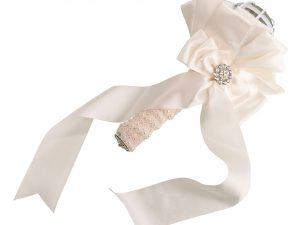 Ivory Satin Wedding Bouquet Holder