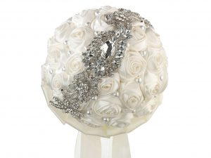 Lillian Rose Cream Pearl & Rhinestone Wedding Bouquet