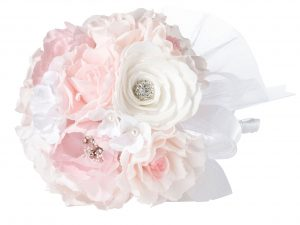 Lillian Rose Vintage Blush Rhinestone Wedding Bouquet