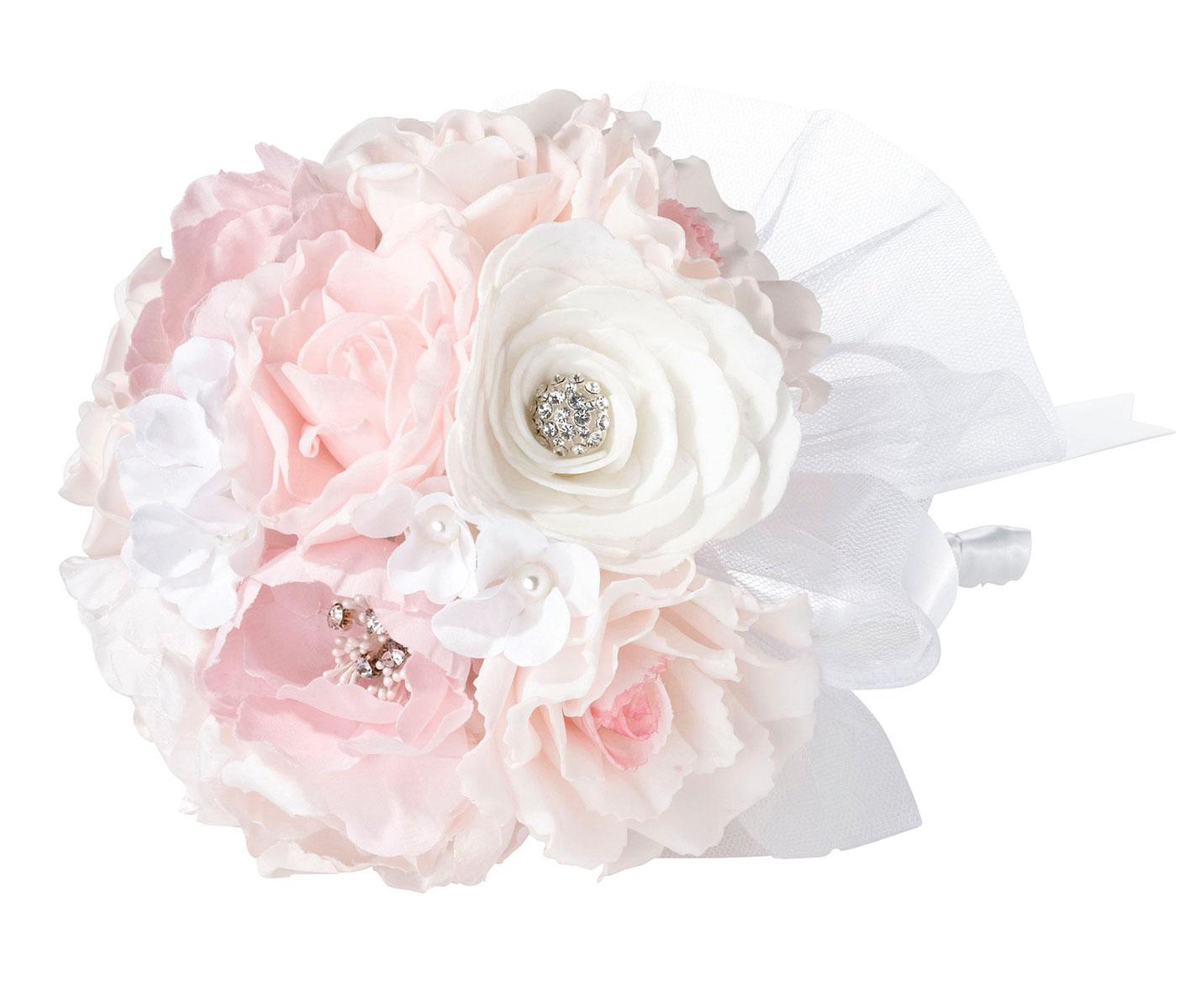 Lillian Rose Vintage Blush Rhinestone Wedding Bouquet