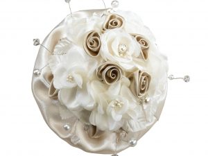 Lillian Rose Taupe/Ivory Rose Wedding Bouquet