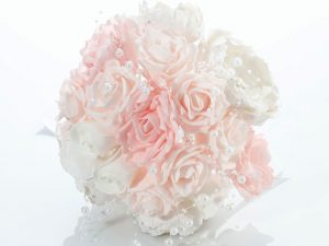 Lillian Rose Vintage White/Blush Wedding Bouquet