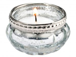 Set of 4 Silver Tealight Cups