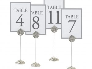 "Lillian Rose ""Regal Elegance"" Table Markers  4pc"