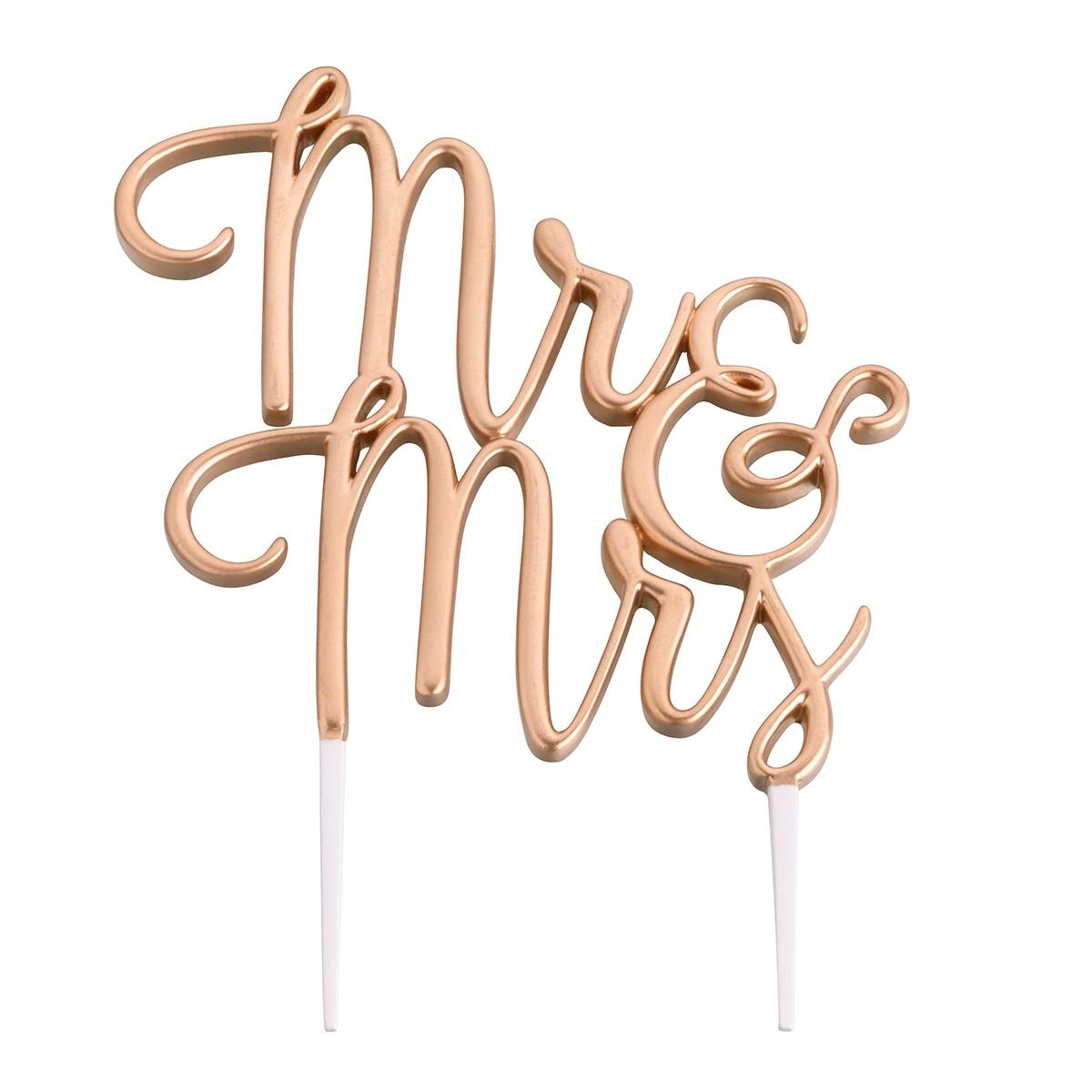 Lillian Rose Gold Mr&Mrs Cake Topper