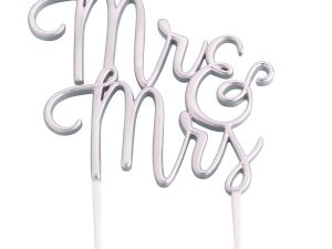 Lillian Rose Silver Mr&Mrs Cake Topper