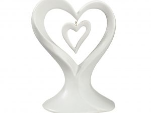 Lillian Rose Porcelain Double Hearts Cake Topper