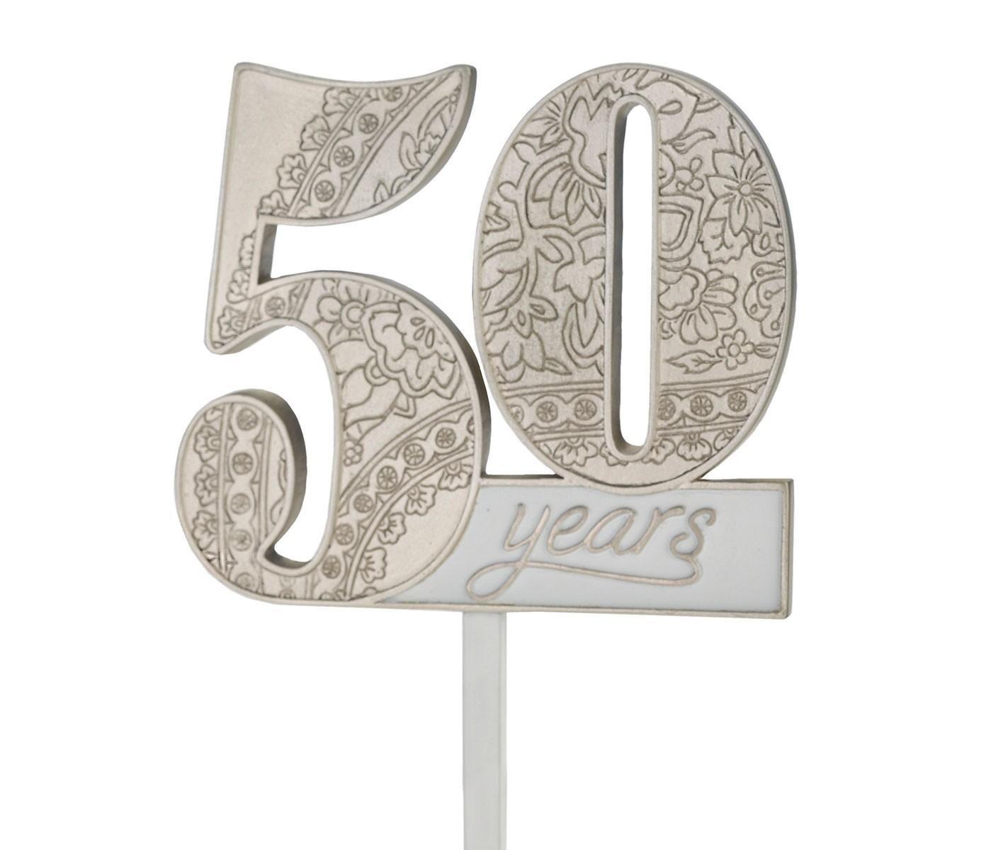 Lillian Rose 50th Anniversary Cake Topper