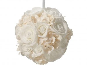 Lillian Rose 8″ White RoseDecoration