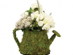 Lillian Rose Lush Moss Green Watering Can Centerpiece