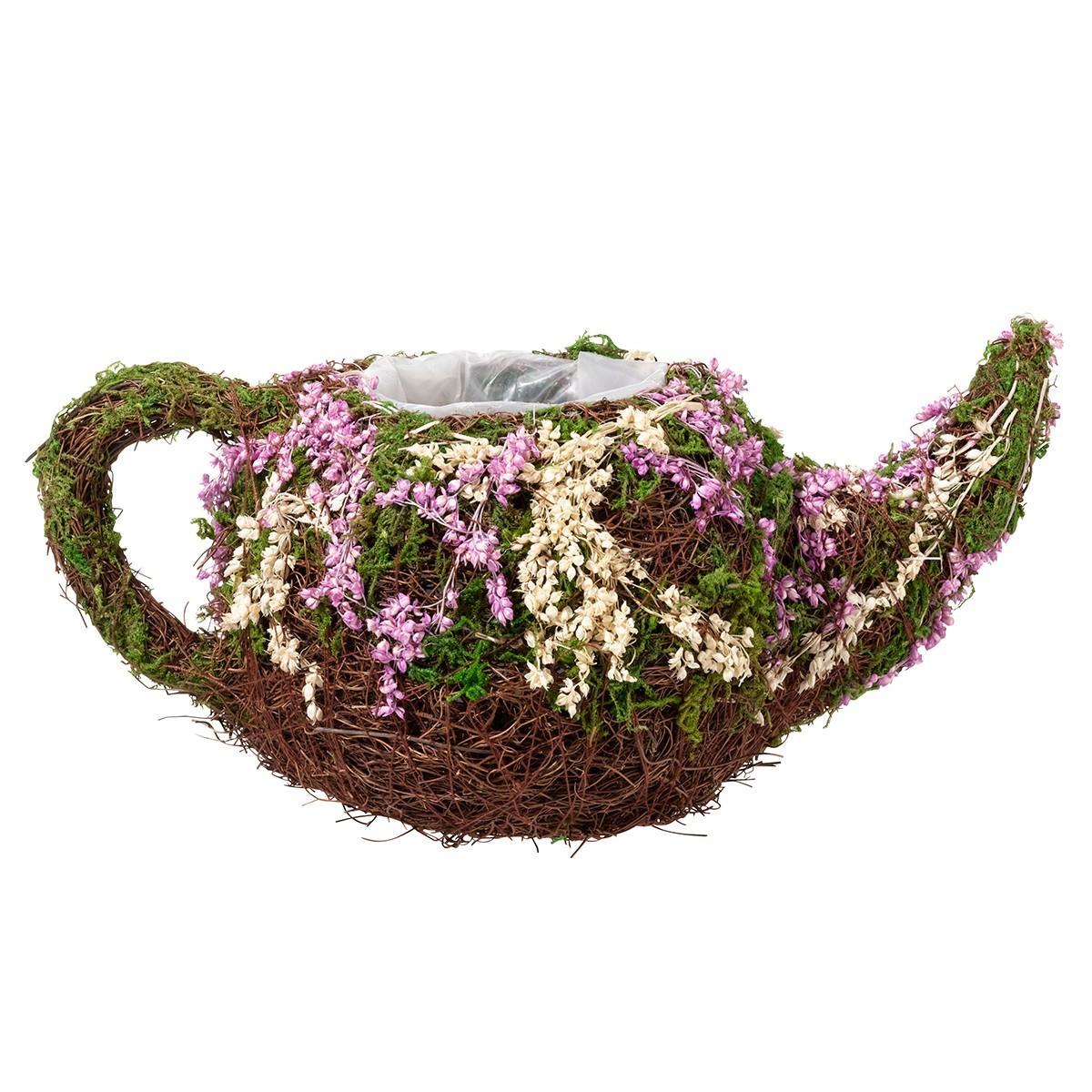 Rattan & Moss Teapot Basket