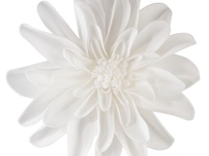 Set of 2 White 7.5″ Flower Decorations