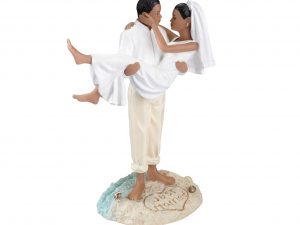 Lillian Rose Beach Theme Couple Cake Topper (African American)