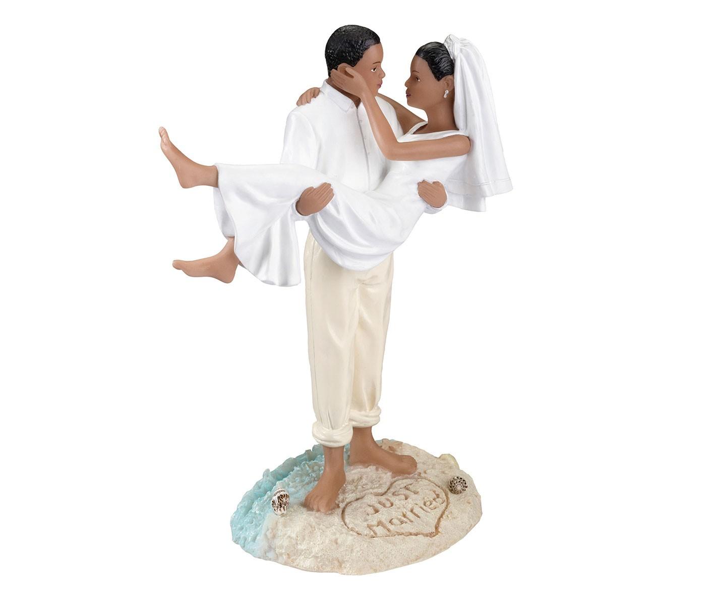 Lillian Rose Beach Wedding Figurine – African American