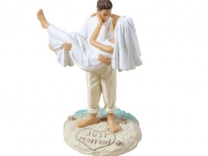 Lillian Rose Beach Theme Bride & Groom Cake Topper (Caucasian)