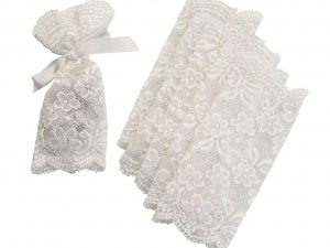 Ivory Lace Favor Bags
