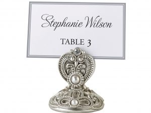 Lillian Rose 4 Elegant Silver Jeweled Place Card Holders