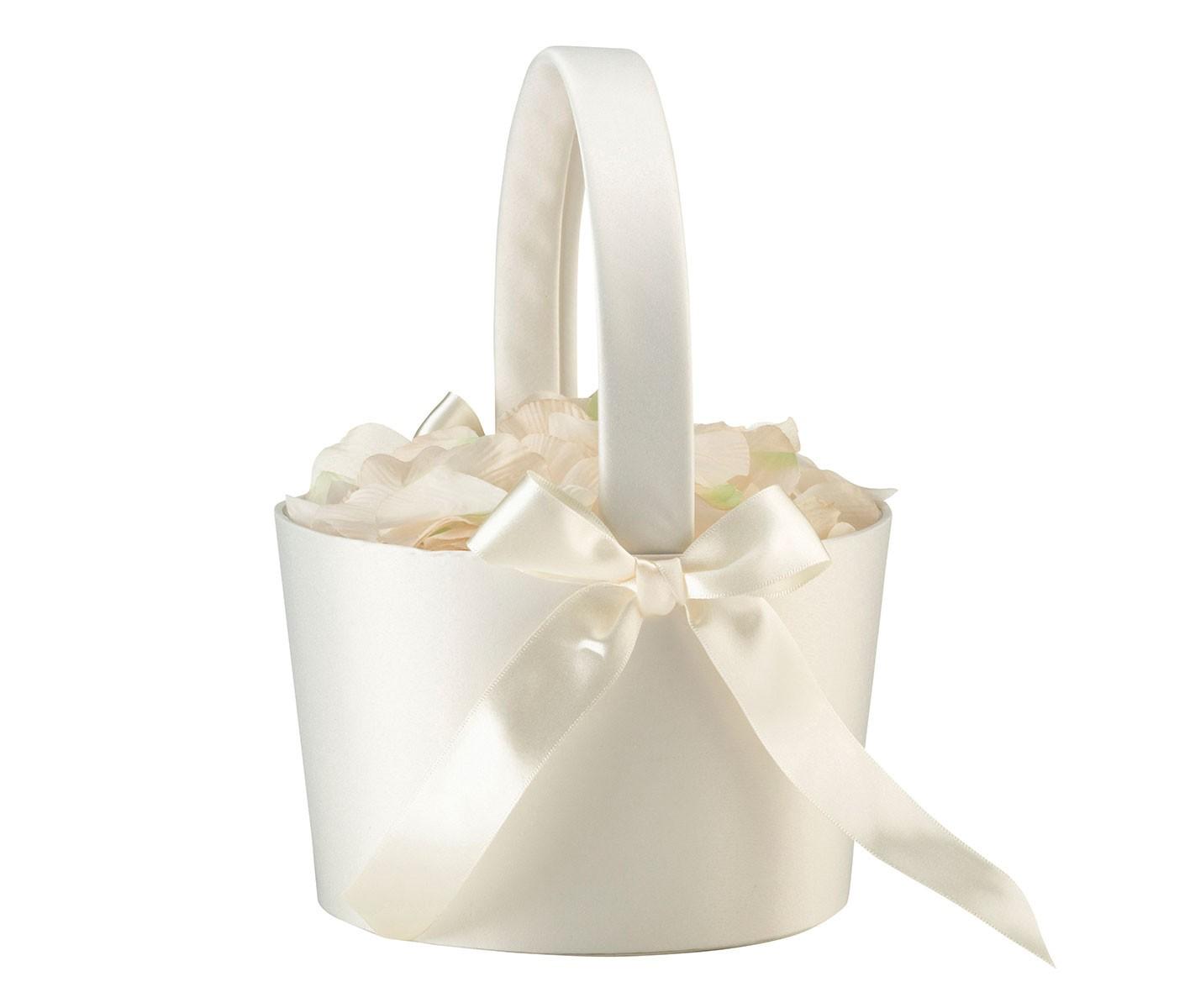 Lillian Rose Large Cream Flower Girl Basket