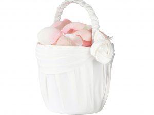 Lillian Rose Cream Rose Flower Girl Basket