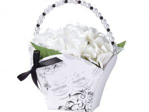 Lillian Rose Black & White Together Forever Flower Girl Basket