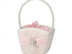 Lillian Rose Vintage Blush Rhinestone Flower Girl Basket