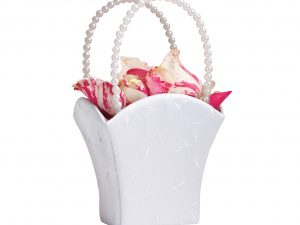 Lillian Rose Elegant White Flower Girl Basket