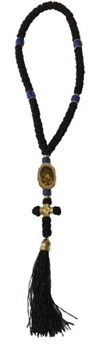 Prayer Rope, 50 knot, with an Icon, a Knot Cross and Tassel