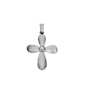 Byzantine Diamond Designers 2-Piece Solid Gold Cross Pendant