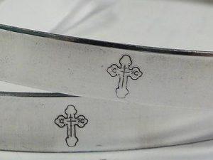 Orthodox Wedding Crowns (Stefana) – Byzantine Aluminum (Silver)