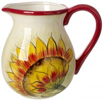 Cucina Italiana Ceramic Sunflower Design 3 Liter Wine/Water Jug