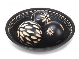 Decorative Ball Display with Bowl
