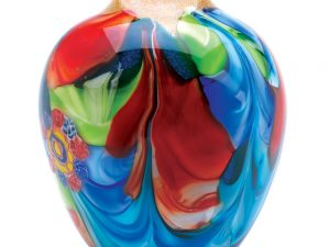 WATERCOLOR ART GLASS VASE